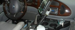 Interior Handicap Driving Features for Ford E-Series Wheelchair Vans