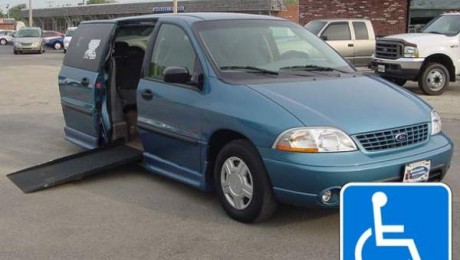 Ford Windstar and Freestar Wheelchair Van Exterior Handicap Driving Features